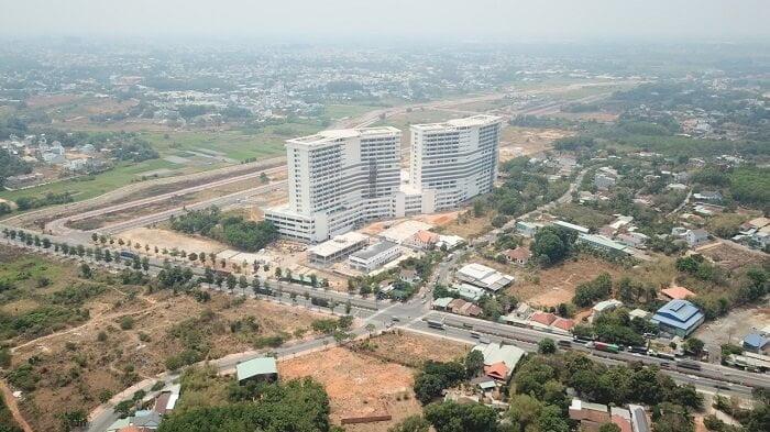 Hình ảnh mới nhất vào tháng 4/2021 của dự án bệnh viện 1500 giường Thủ Dầu Một