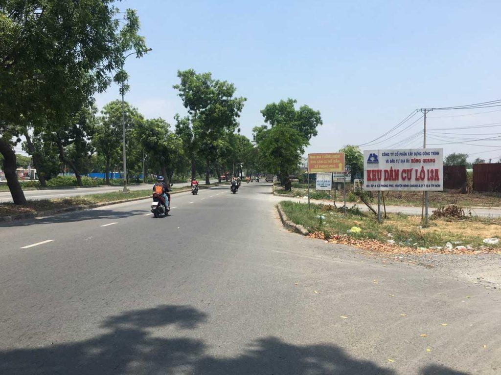 Trục đường Nguyễn Văn Linh khúc rẽ vào dự án
