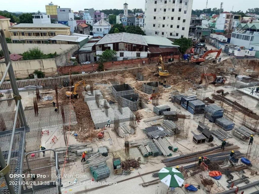 Tiến độ xây dựng căn hộ Opal Skyline Thuận An