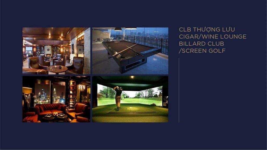 CLB Thượng lưu cigar, wine lounge billard club, screen golf