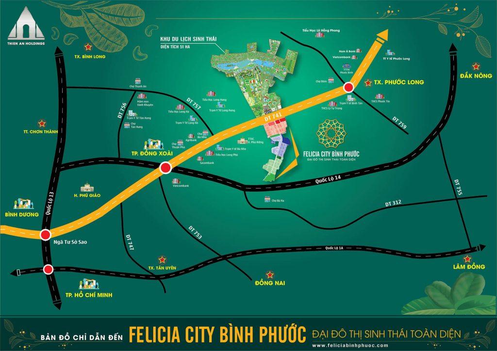 Vị trí dự án Felicia City Bình Phước