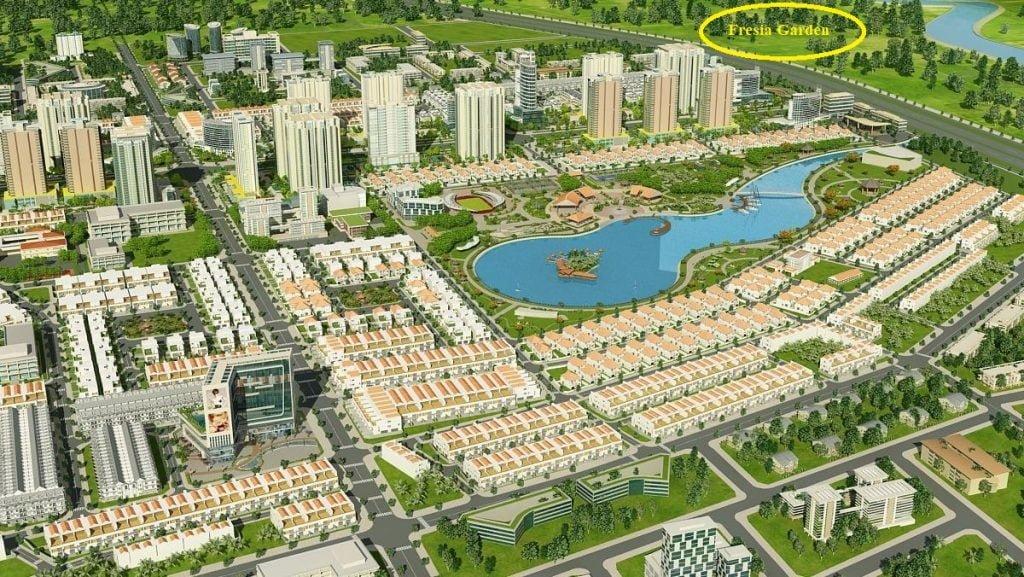 Tổng thể khu đô thị Đông Tăng Long và vị trí Fresia Garden
