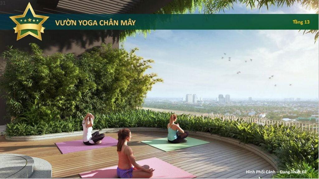 Vườn yoga chân mây