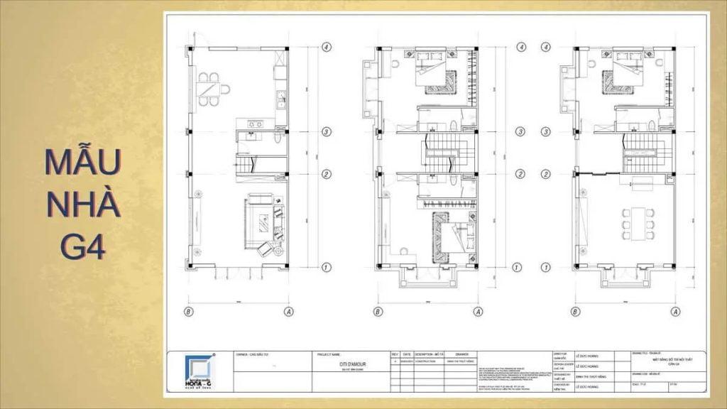 Mẫu nhà G4 trong dự án nhà phố Đông Hưng