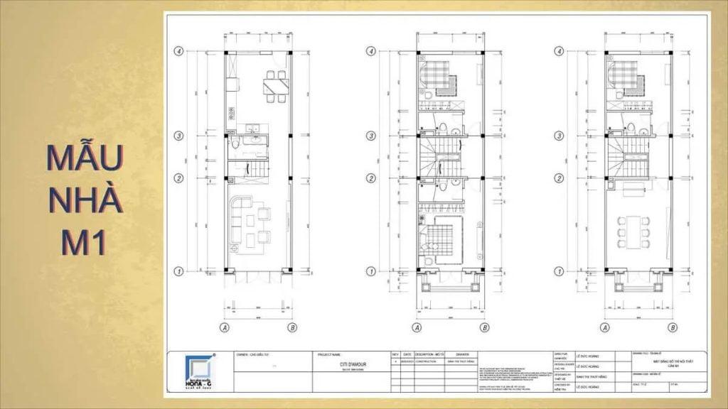 Mẫu nhà M1 trong dự án Cite Damour