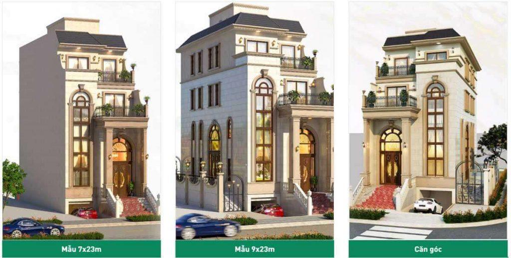 Các mẫu thiết kế trong Sunlake Villas tại Vạn Phúc City