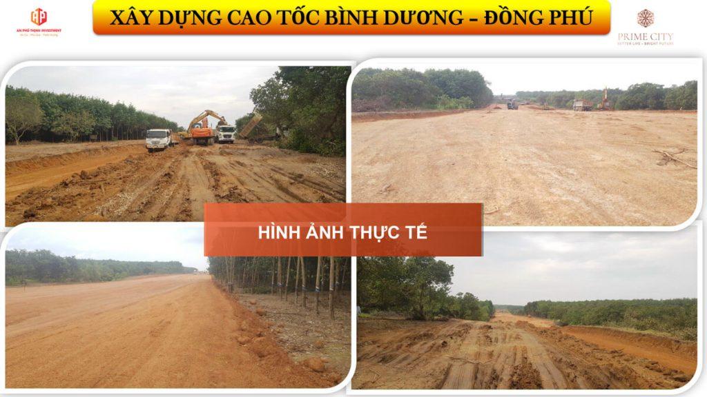 Cao tốc Đồng Phú - Bình Dương đa gấp rút thi công