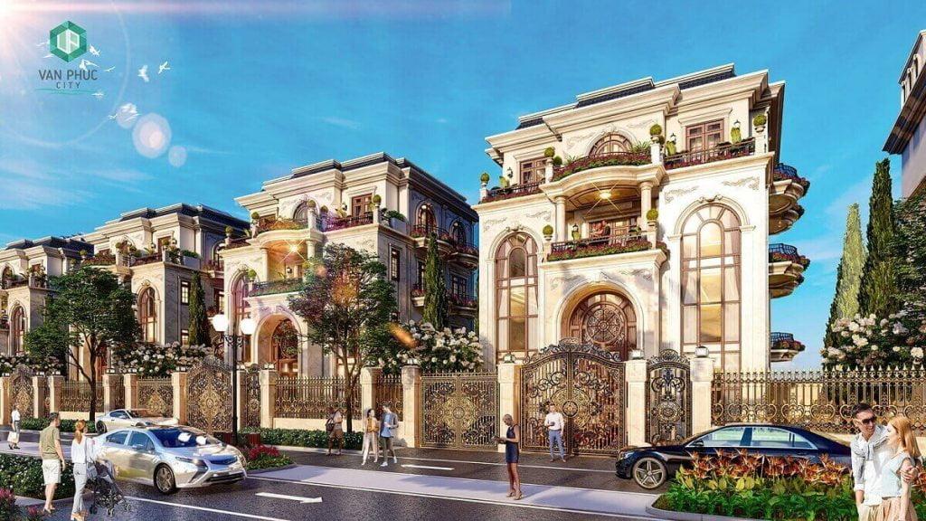 Dinh thự Jardin Villas trong Vạn Phúc City