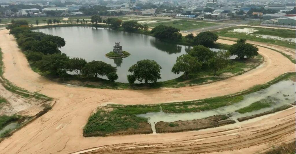 Hình ảnh tiến độ thực tế dự án Hồ Gươm Xanh Thuận An