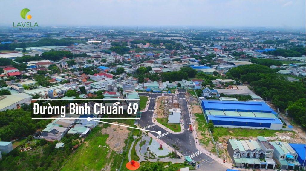 Hình ảnh tiến độ nhà phố Lavela Garden Thuận An