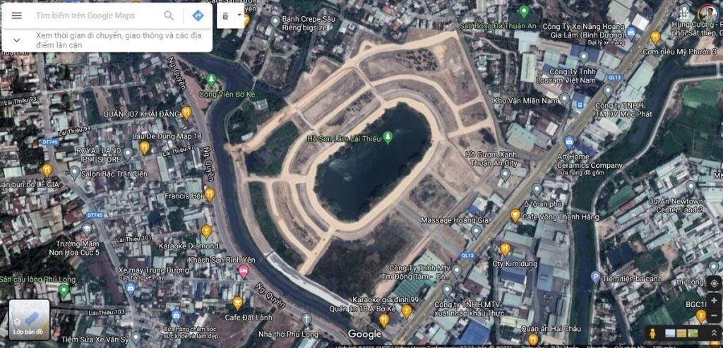 Dự án Hồ Gươm Xanh khi nhìn từ trên xuống sẽ có hình dáng của mai rùa