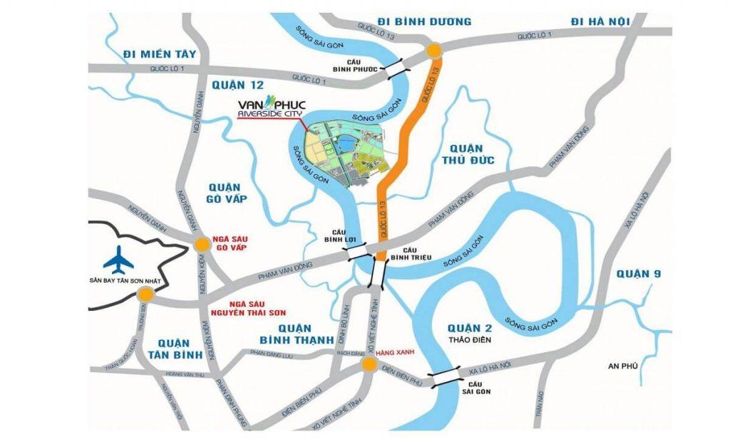 Liên kết vùng của Vạn Phúc City
