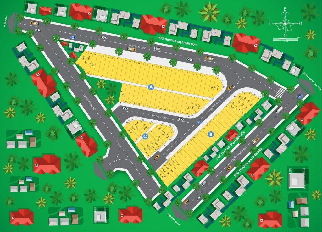 Sơ đồ phân lô của dự án Royal Town Kim Oanh