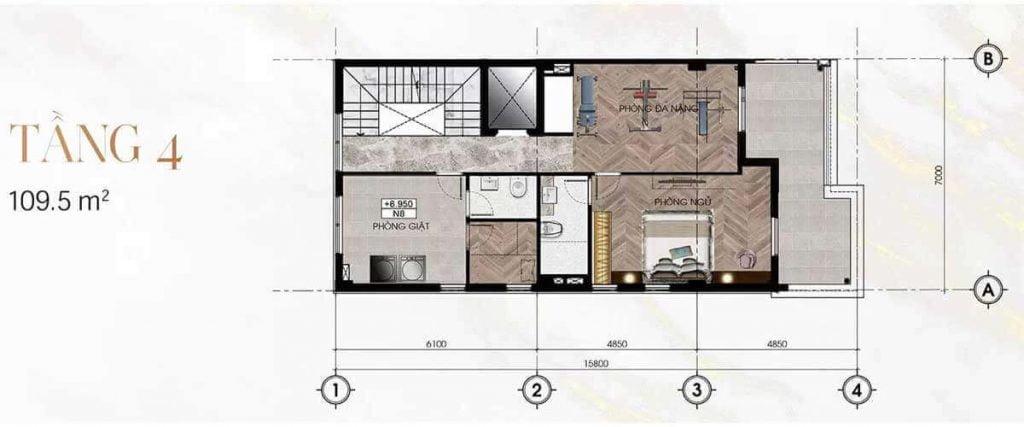 Thiết kế tầng 4 Sunlake Villas