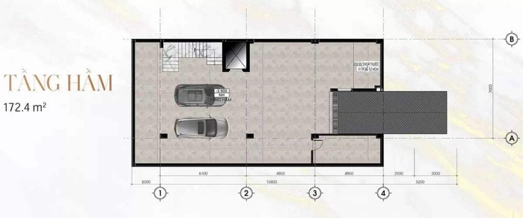 Thiết kế tầng hầm Sunlake Villas
