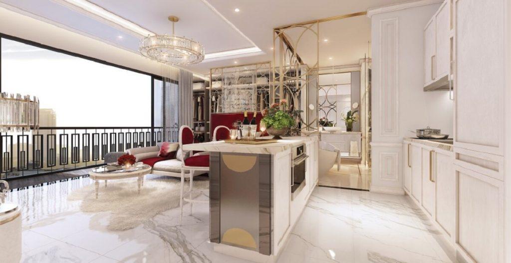 Nhà mẫu căn hộ Rome Diamond Lotus