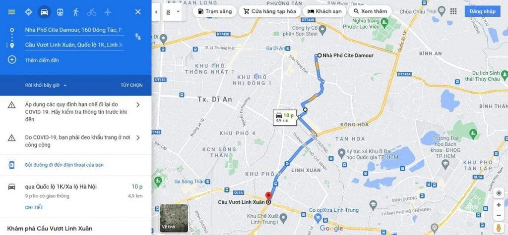 Nhà phố Cite Damour cách cầu vượt Linh Xuân chỉ 10 phút