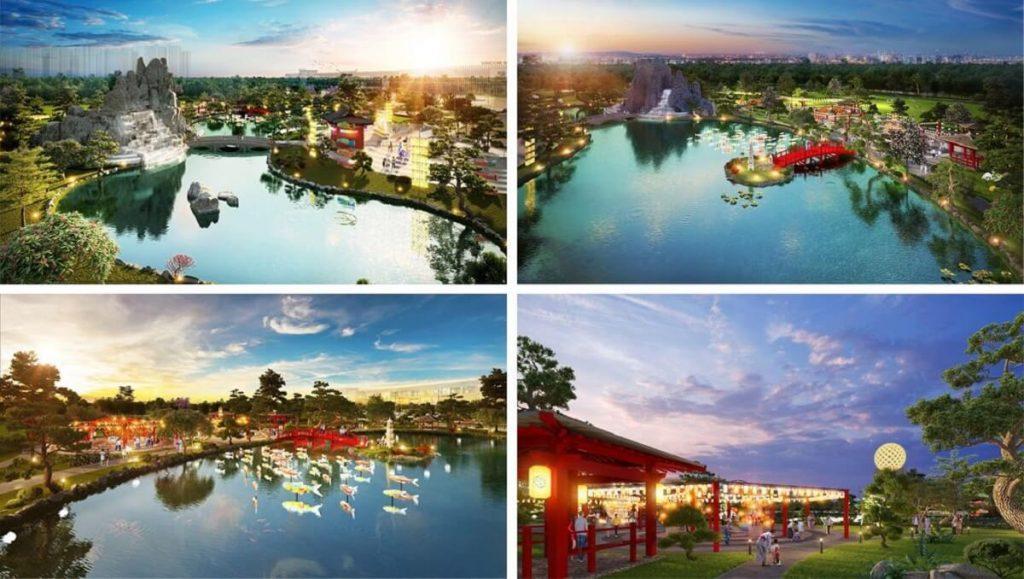 Một vài hình ảnh công viên Nhật tại Phân khu Origami của Vinhomes Quận 9