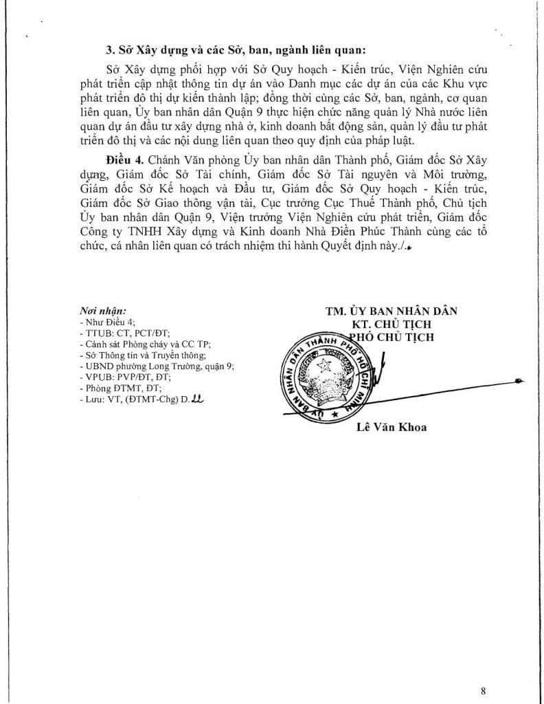 Pháp lý dự án Eastmark City Điền Phúc Thành