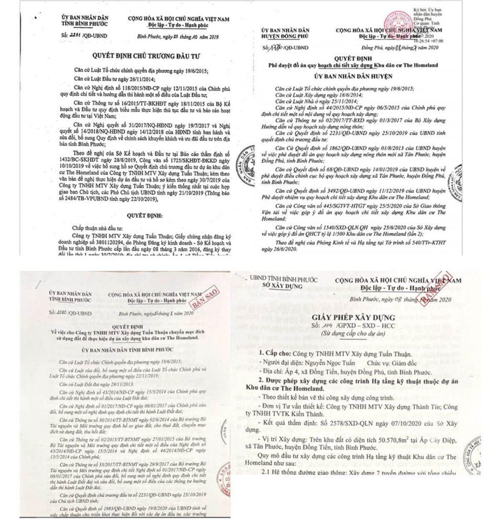 Pháp lý dự án Prime City Bình Phước