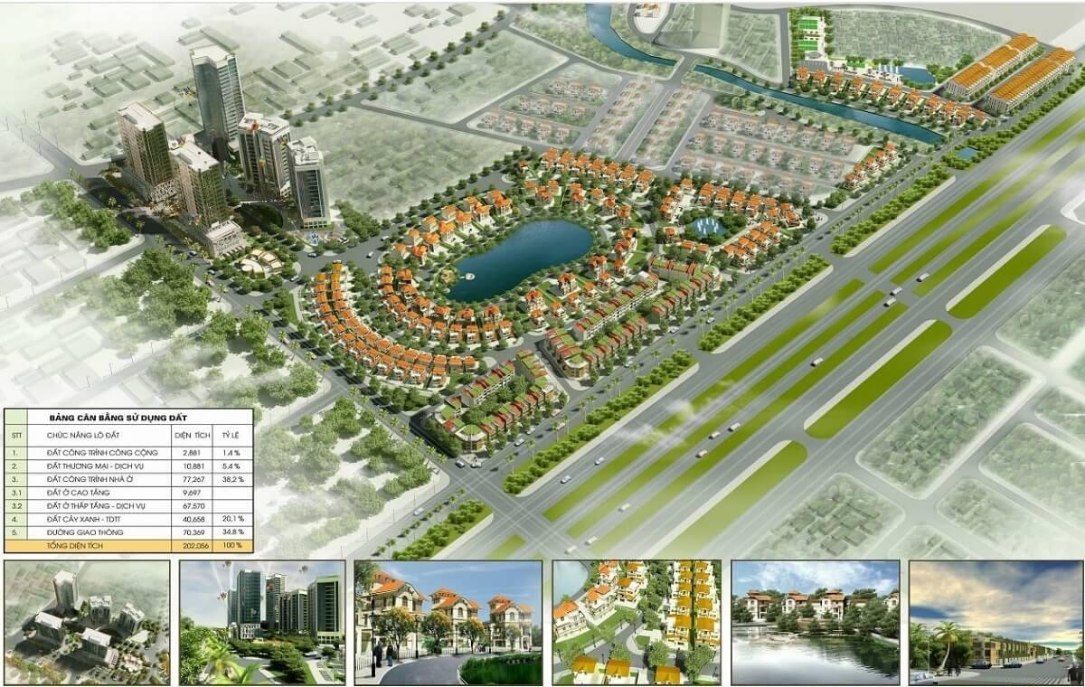Phối cảnh dự án Hồ Gươm Xanh tham khảo