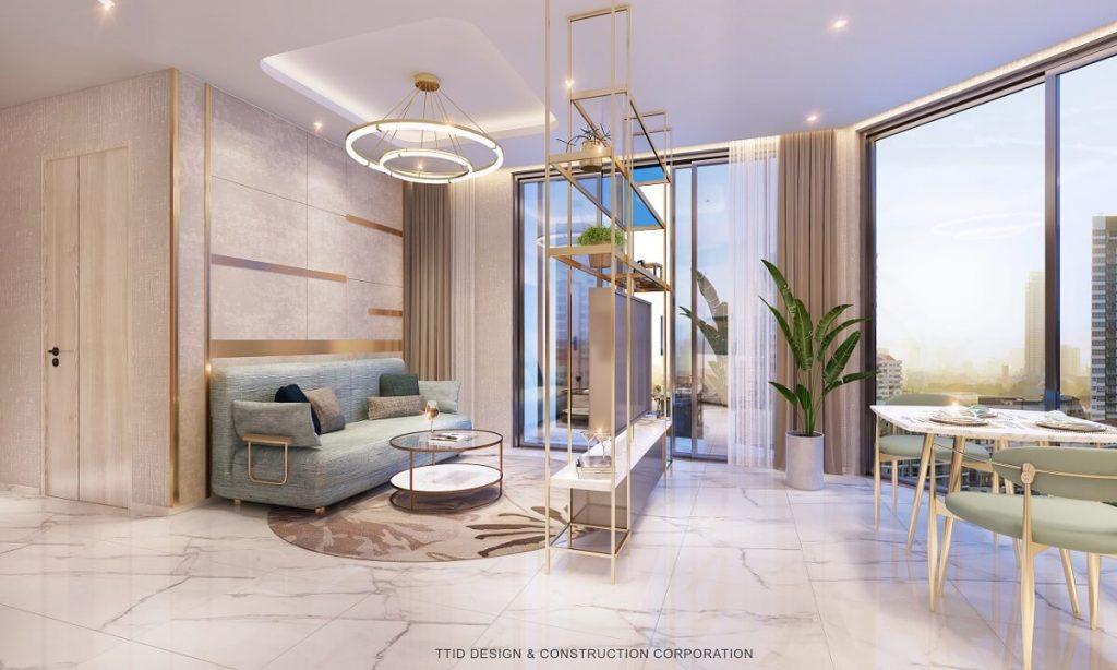 Phòng khách căn hộ Thảo Điền Quận 2