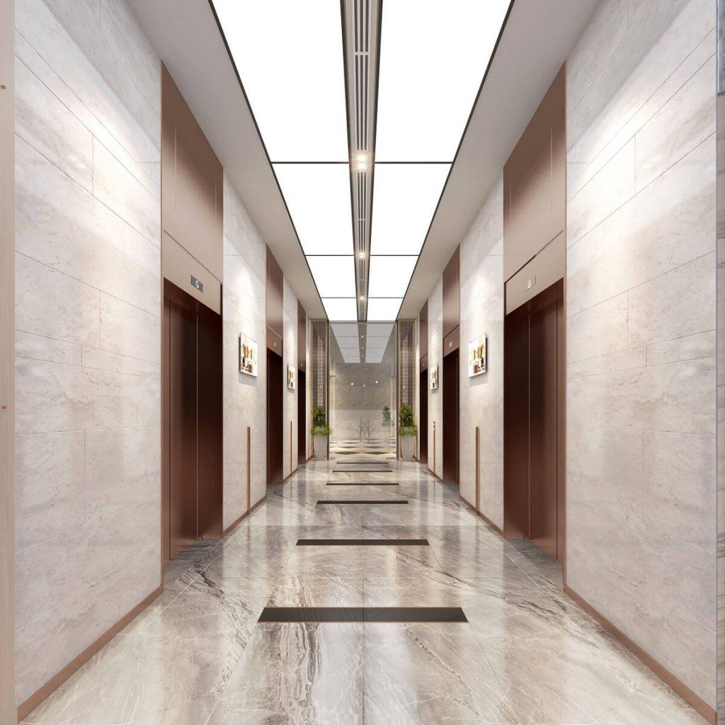 Sảnh thang máy căn hộ Green Towers Thảo Điền