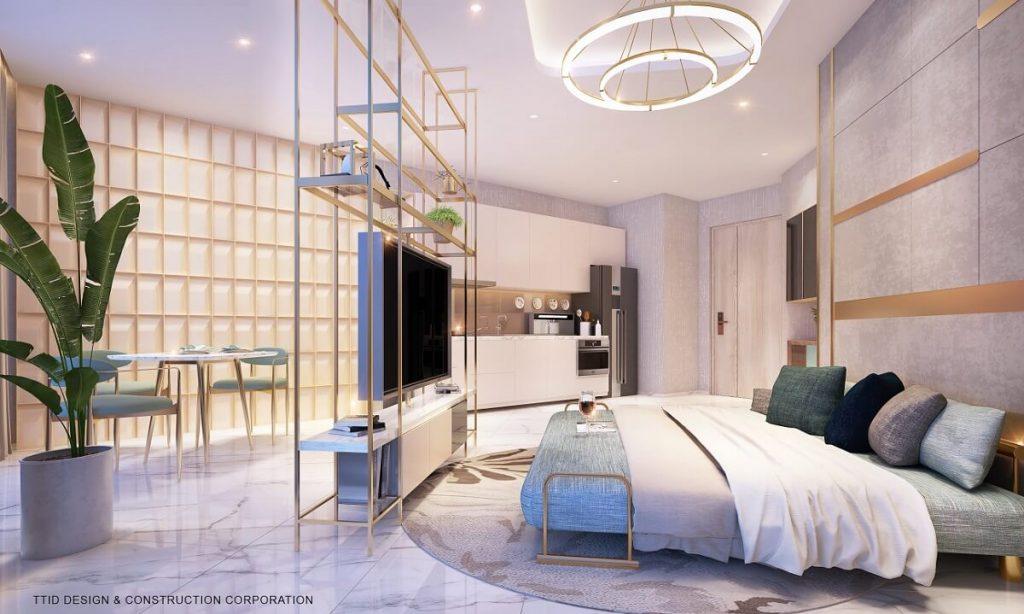 Phòng ngủ cao cấp phong cách mở của Thảo Điền Quận 2