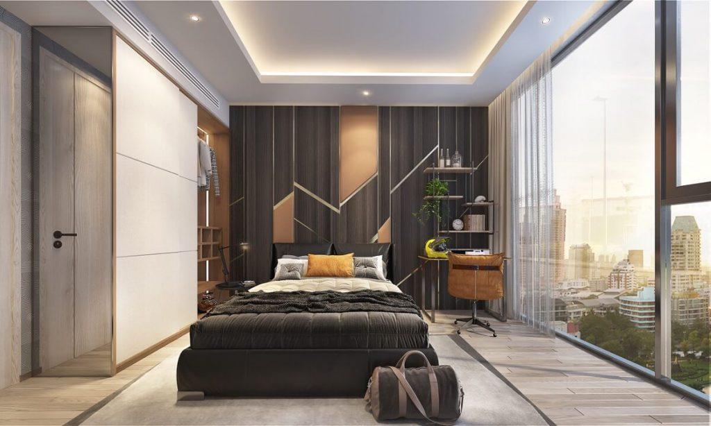 Phòng ngủ căn hộ 2PN tại Thảo Điền Green Quận 2