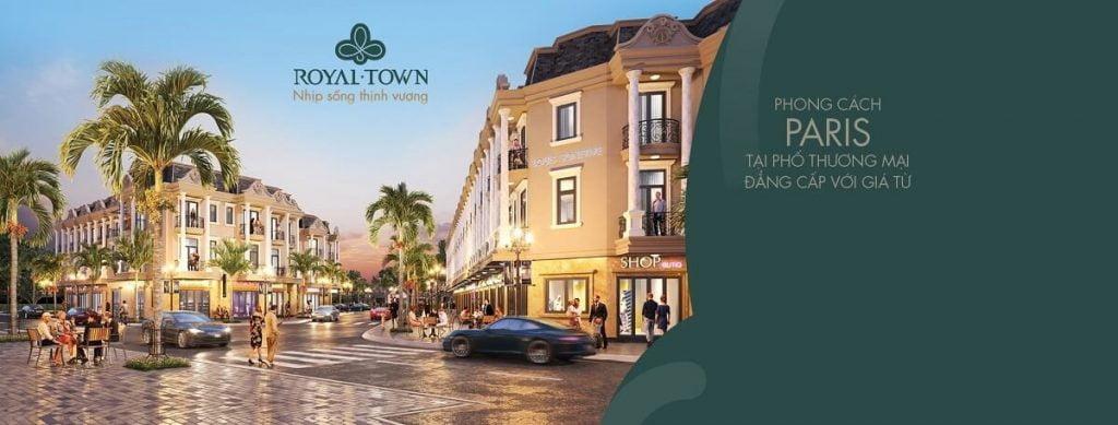 Phố thương mại Royal Town mang phong cách thiết kế tân cổ điển sang trọng