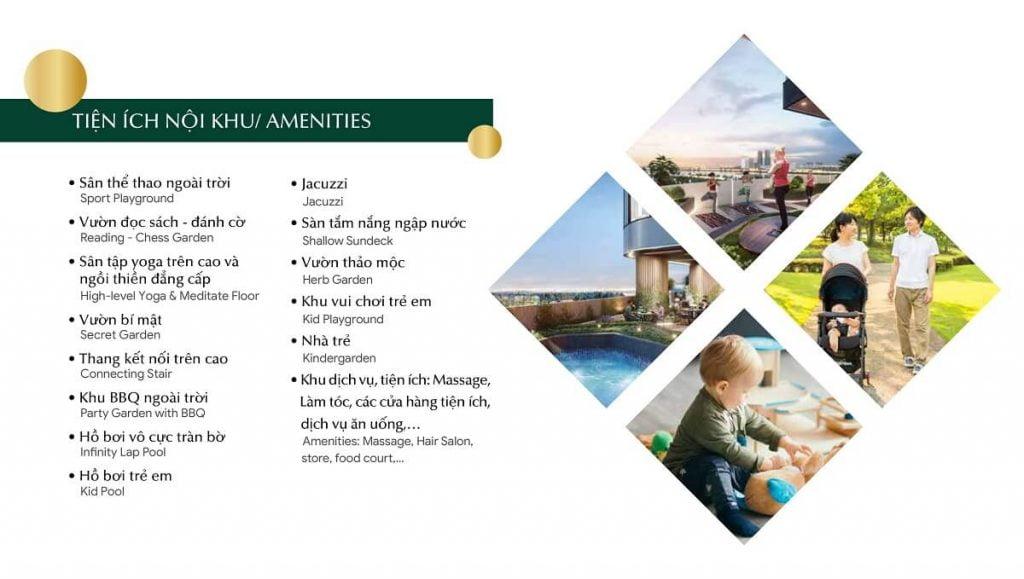 Cụm tiện ích nội khu trong dự án căn hộ cao cấp Green Towers Thảo Điền
