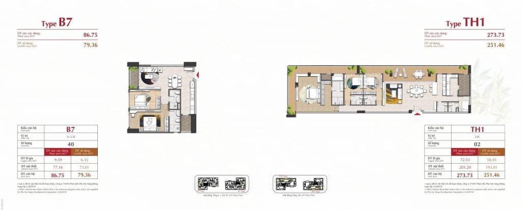 Thiết kế căn hộ B7, TH1 The Antonia