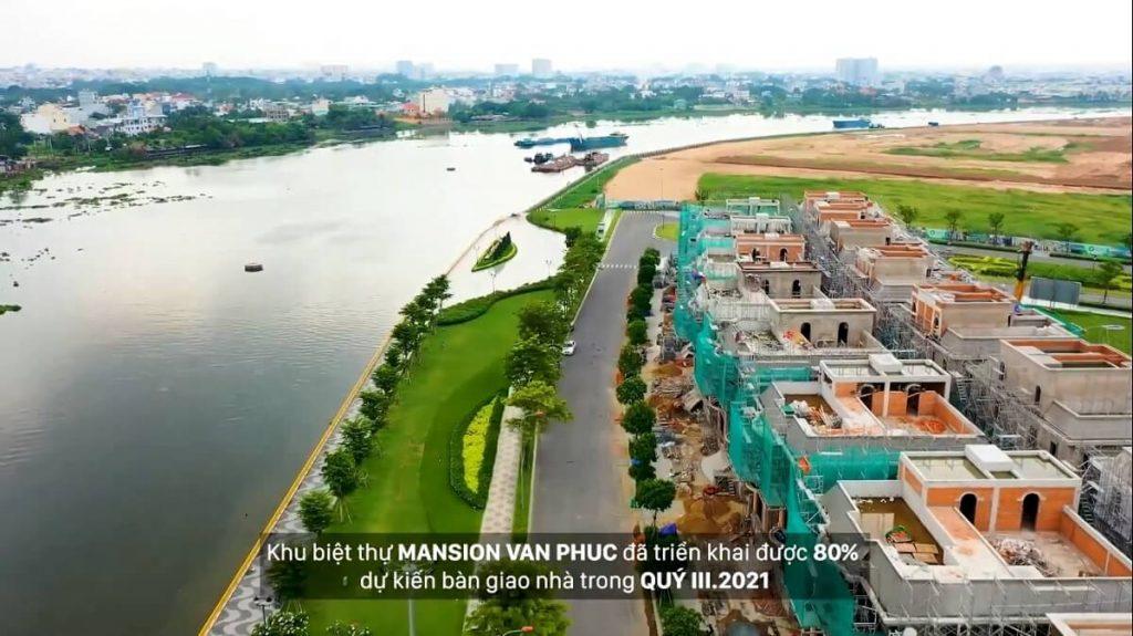 Tiến độ xây dựng của biệt thự Mansion