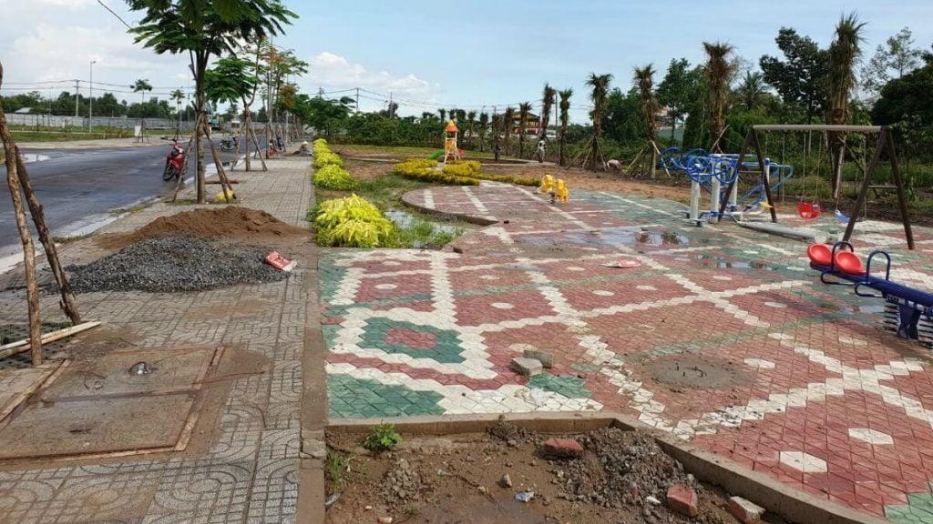 Tiến độ khu công viên ven sông Tiến Lộc Garden