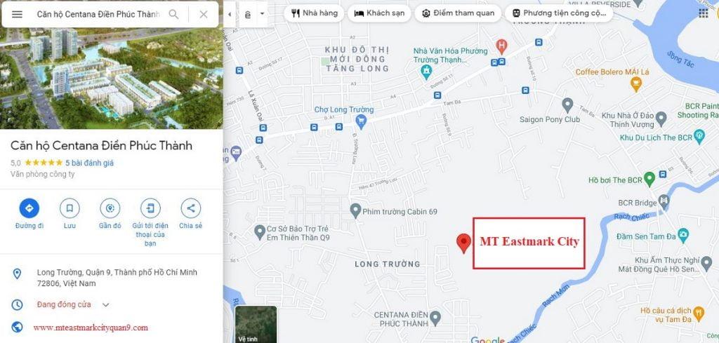 Vị trí căn hộ MT Eastmark City Quận 9