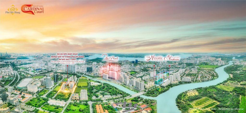 Vị trí thực tế dự án Cardinal Court Phú Mỹ Hưng