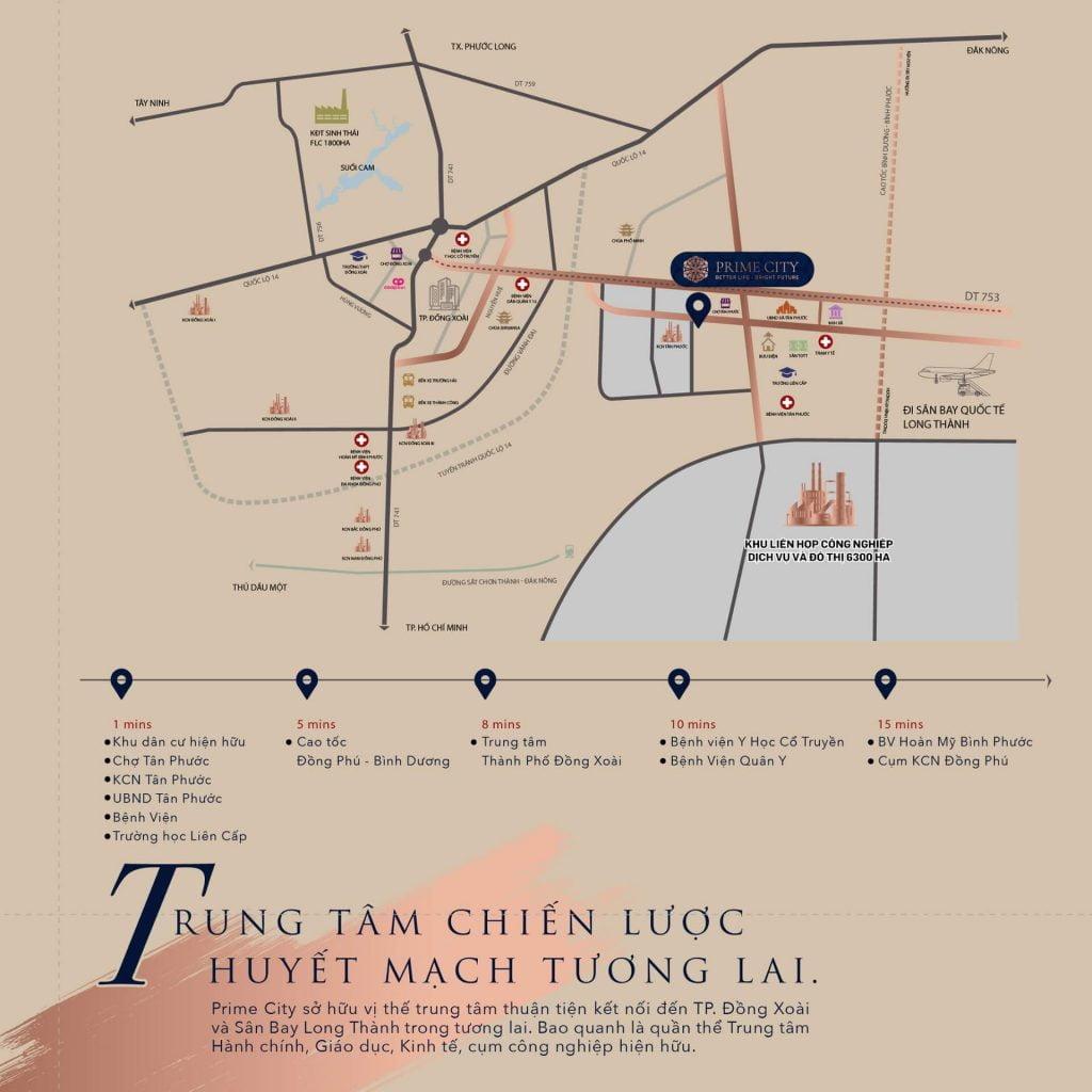 Vị trí khu dân cư Prime City Bình Phước