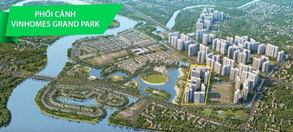 Tổng thể dự án Vinhomes Grand Park và vị trí The Beverly