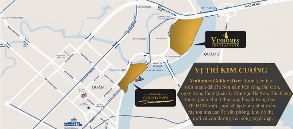 Vị trí trung tâm của Vinhomes Golden River