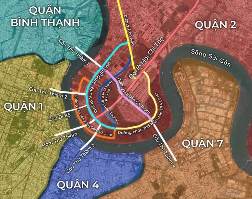 Khu đô thị mới Thủ Thiêm và 5 cây cầu trọng điểm