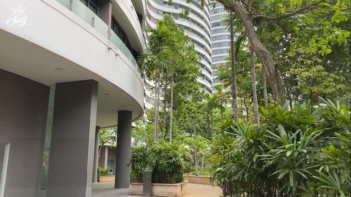 Nội khu Citygarden có nhiều cây xanh