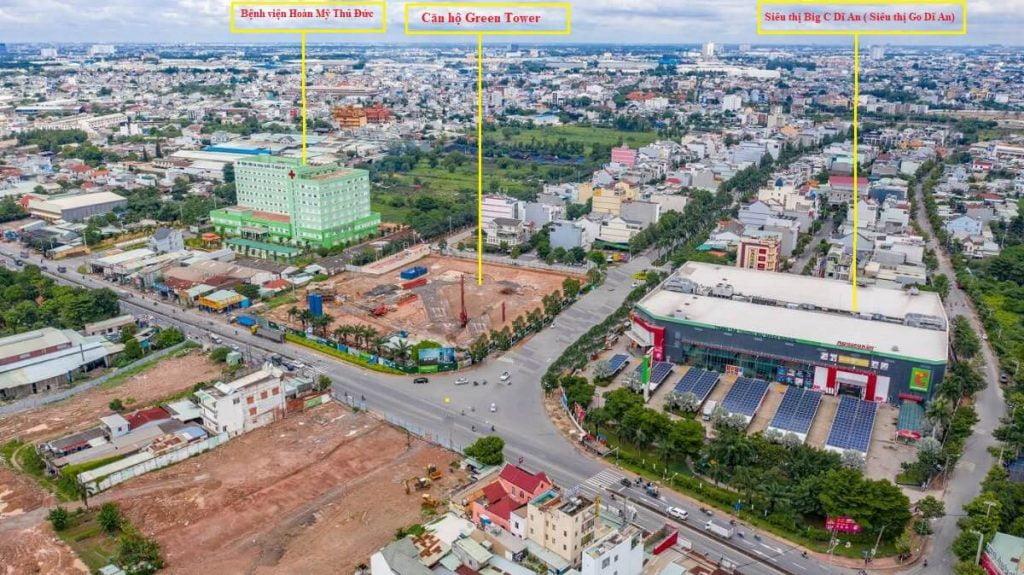 Siêu thị Big C hay Siêu thị Go Dĩ An nằm trong dự án Green Square City
