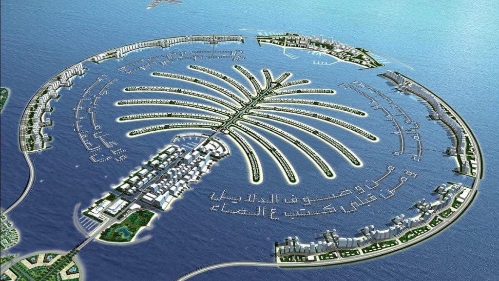 Quần thể đảo nhân tạo nổi tiếng Palm Island tại Dubai