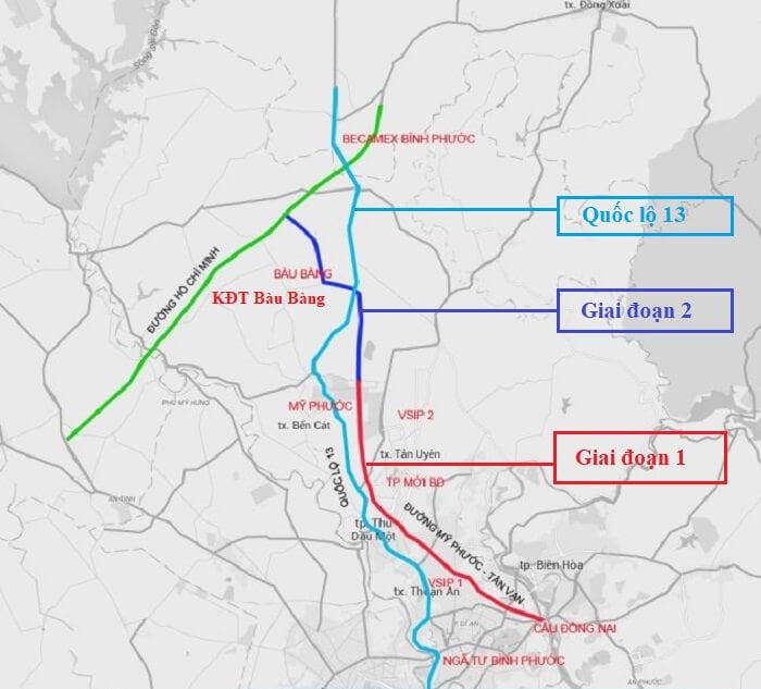 Toàn tuyến đường Mỹ Phước - Tân Vạn - Bàu Bàng