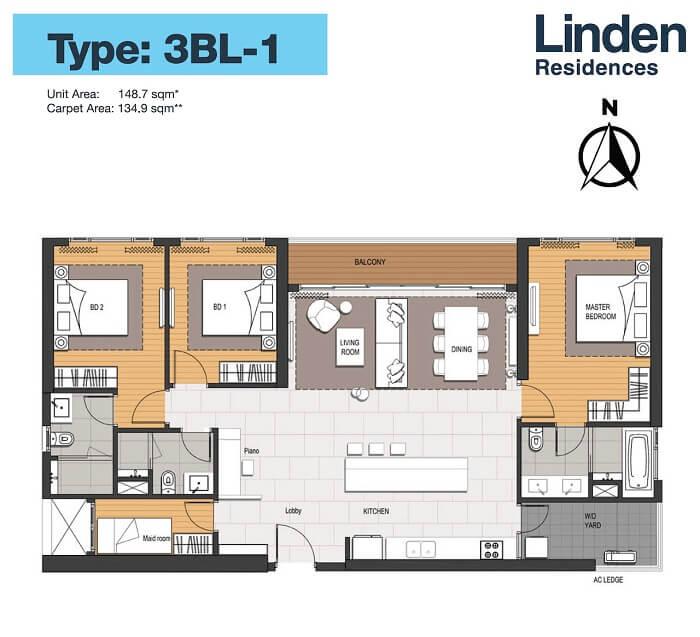 Thiết kế căn hộ 3PN+