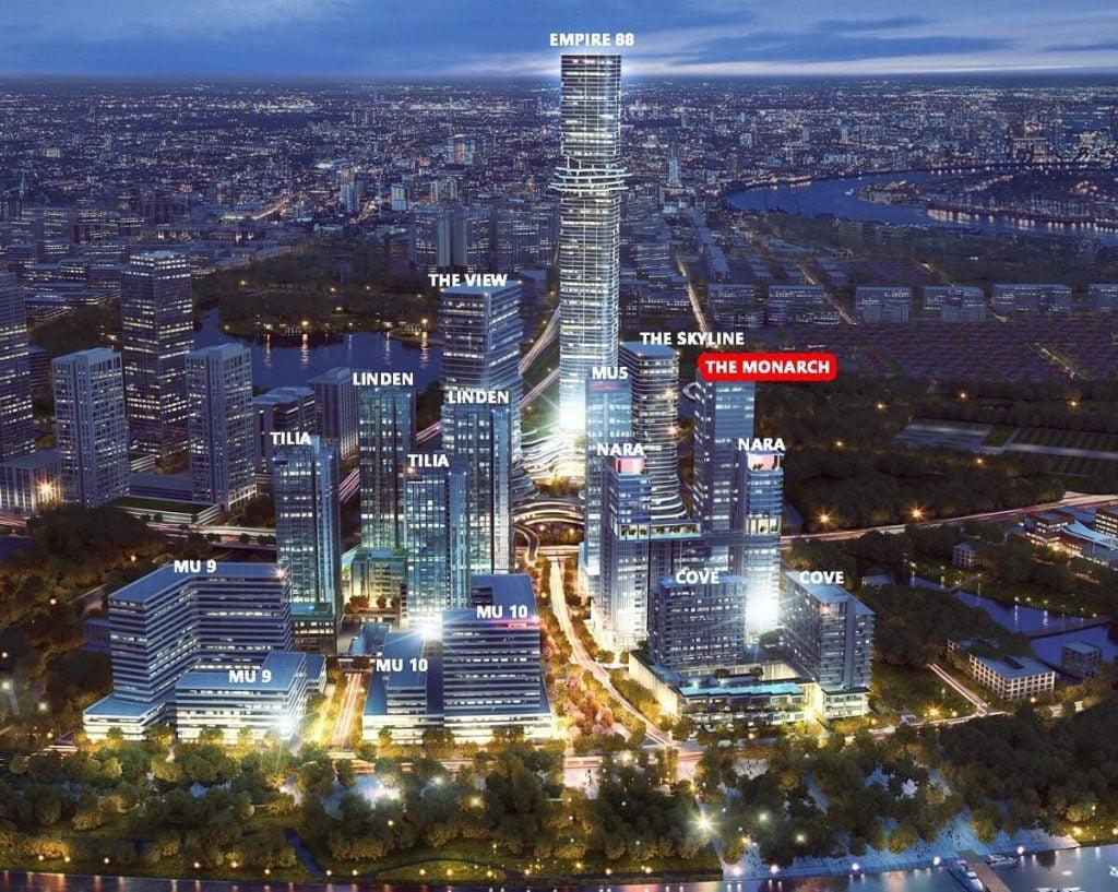 Vị trí các tòa tháp tại dự án Empire City