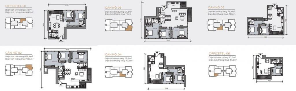 Thiết kế của tòa Lux 6 dự án Vinhomes Golden River Quận 1