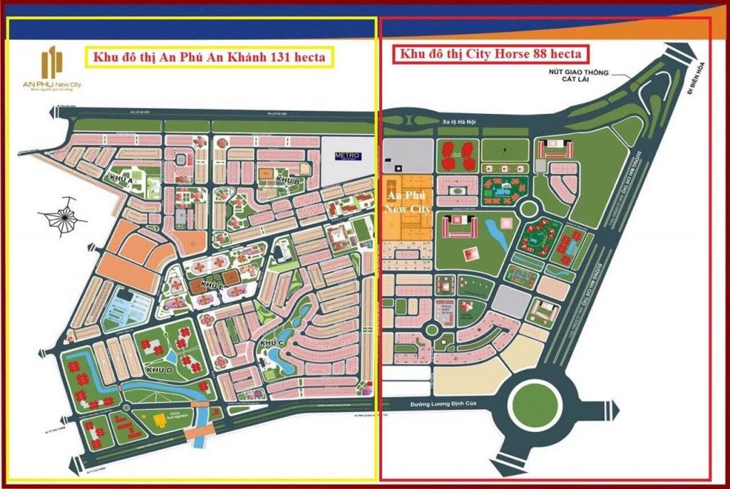 Mặt bằng toàn khu của dự án An Phú New City
