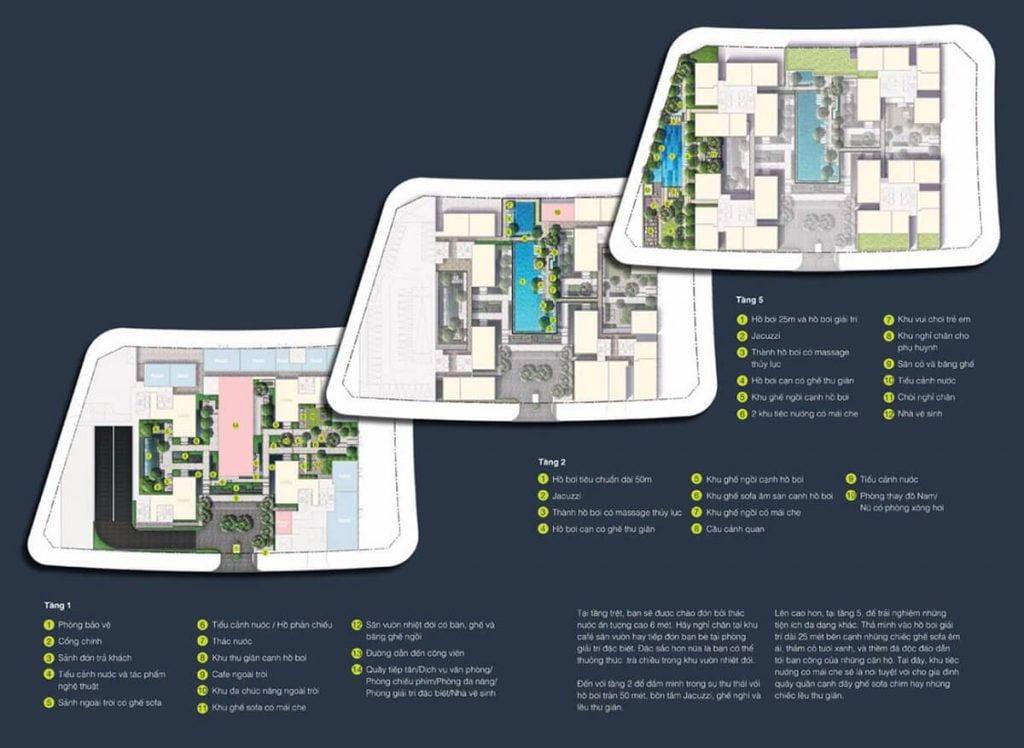 Các cụm căn hộ trong Empire City sẽ có các tiện ích phục vụ riêng cho cư dân tòa đó