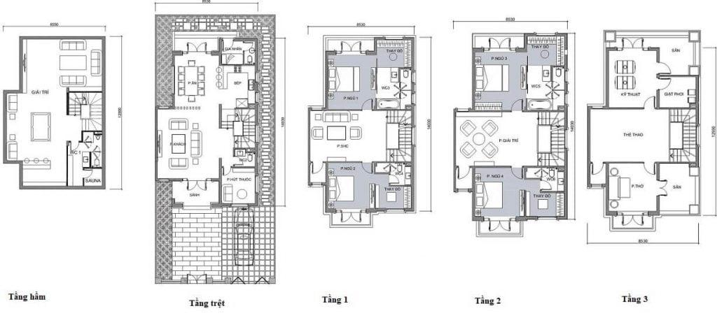 Thiết kế biệt thự Vinhomes Bason Quận 1